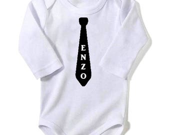 Bodysuit tie personalized with name