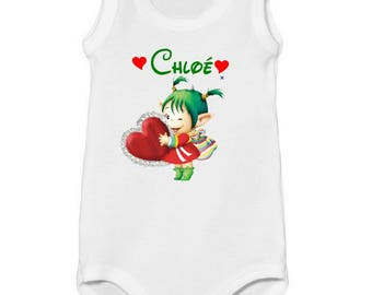 Onesie top my little Elf personalized with name