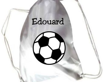 Gym bag pool football personalized with name