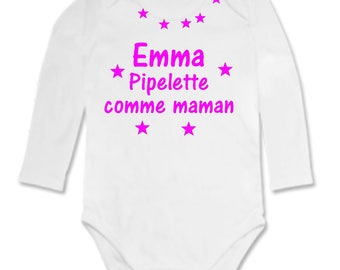 Bodysuit Chatterbox MOM personalized with name