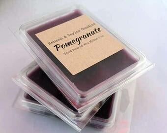 Pomegranate Wax Melt | Handmade Wax Tart | Pomegranate Scented Wax Tart | Housewarming Gift | Pomegranate Candle