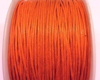 3 meters of waxed cotton orange 1 mm