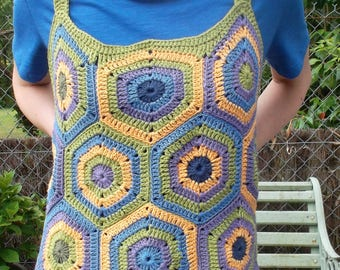"Multicolored crochet T44/46 ""WAX"" top"
