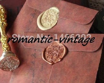 5 nice vintage 16 * 11cm kraft envelopes