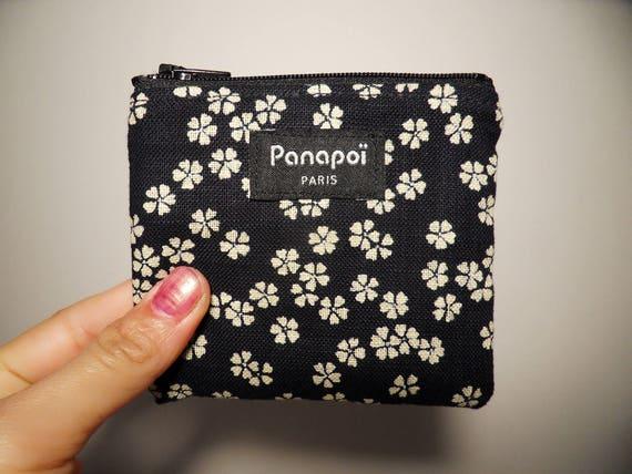 Porte monnaie en tissu japonais traditionnel motif fleurs de - Porte monnaie en tissu ...