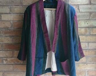 Vintage 80s striped blazer