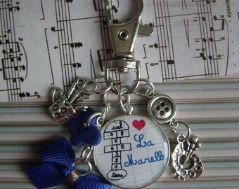 "Keychain or bag charm ""The contemporary writer"""