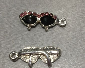 glasses: pink rhinestones