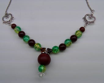Pistachio green with chocolate Pearl Necklace