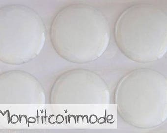 25mm - set of 3 Stickers Domes for supports cameo cabochons