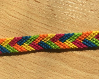 Friendship Bracelet woven multicolored