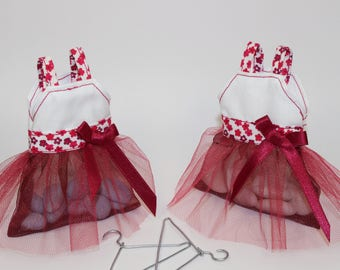 Dress worn sweets raspberry tulle