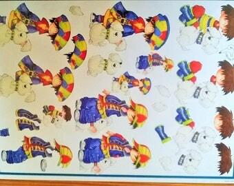 17 cards children themed 3D cardmaking Kit