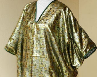 Tunic large size green lame