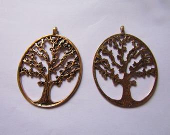 Gold tree pendant 54mmx41mm