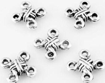 10 pendants/metal in-between, decorated tile size 1.2 cm