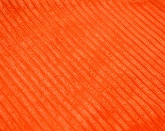 Fabric velvet ribbed ORANGE