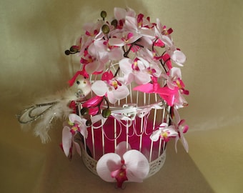 URN for wedding bird cage