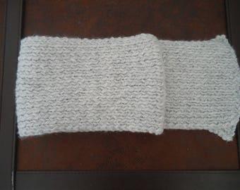 SCARF - Gray - acrylic - wool