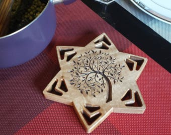 Trivet with tree pattern