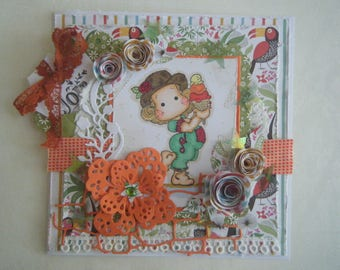 floral theme summer holiday card