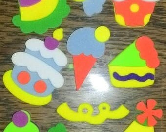 UM, it's yummy! Set of 10 stickers foam representative of the PIN, perfect for scrapbooking