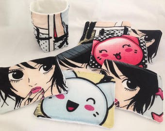 7 large wipes for baby or cleansing manga + basket