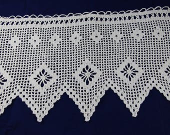 Lace crochet curtain