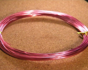 20 meters of thread of aluminum in 0.8 mm - pink bright - metal wire - wire - wire aluminum-BH