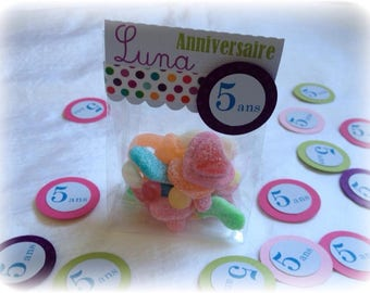 Kit 25 candy bags birthday original personnalier