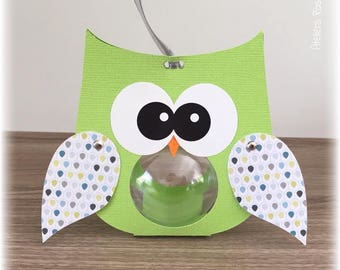 containing sweets wings green OWL pattern