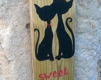 """home sweet home"" wooden sign"