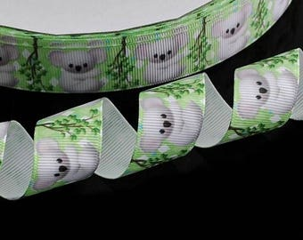 Koala 22 mm grosgrain Ribbon sold by the yard