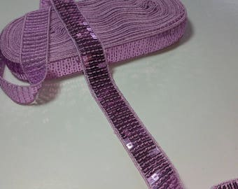 Purple 2cm color sequin trim
