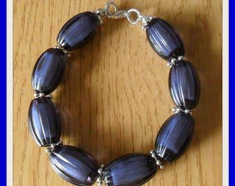 Blue oval Beads Bracelet