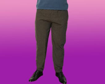 Vintage 80's Plaid pants