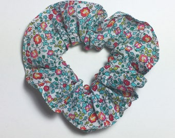 Darling Girl in Liberty Eloise turquoise and coral