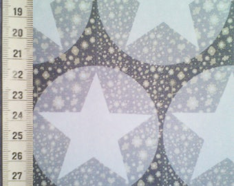 Creation of fabric printed stars and flowers