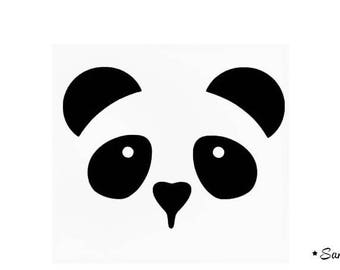 apply fusible flex panda head