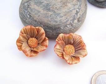2 potentilla Orange cold porcelain (No. 1 set)