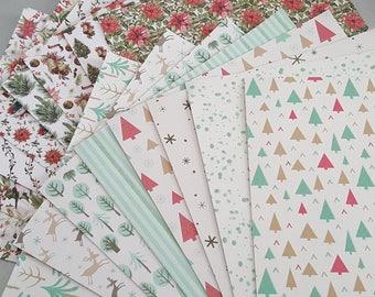 10 sheets of paper Christmas thick 10 sheets 21x14.8 cm, Christmas Decor, Christmas creative hobbies