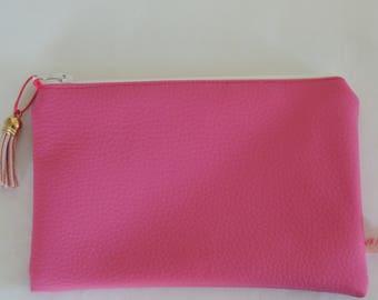 Pouch / pink leatherette - POC 16031 Kit