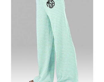 Youth Monogrammed Stripe Lounge Pants