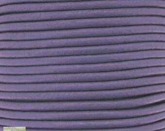 1 m (cui27) Purple 2mm leather cord