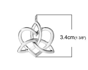 5 triangle knot charm Celtic 3.4x2.9cm within 15 days