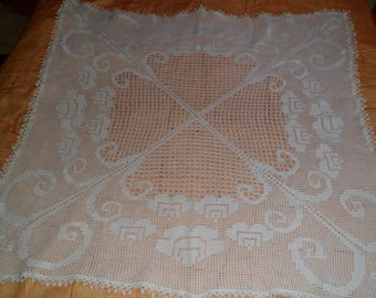 tablecloth square crochet cotton yarn
