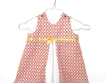 Dress 12 months - 18 months: chasuble or trapezoid shape