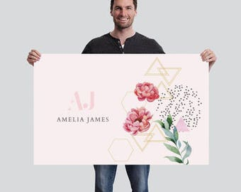 Amelia James Banner (SMALL - 2.5' x 4') | FLORAL