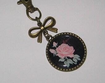 "Keychain bag charm ""Roses roses"""