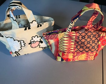 Sheep or colorful fabric bag